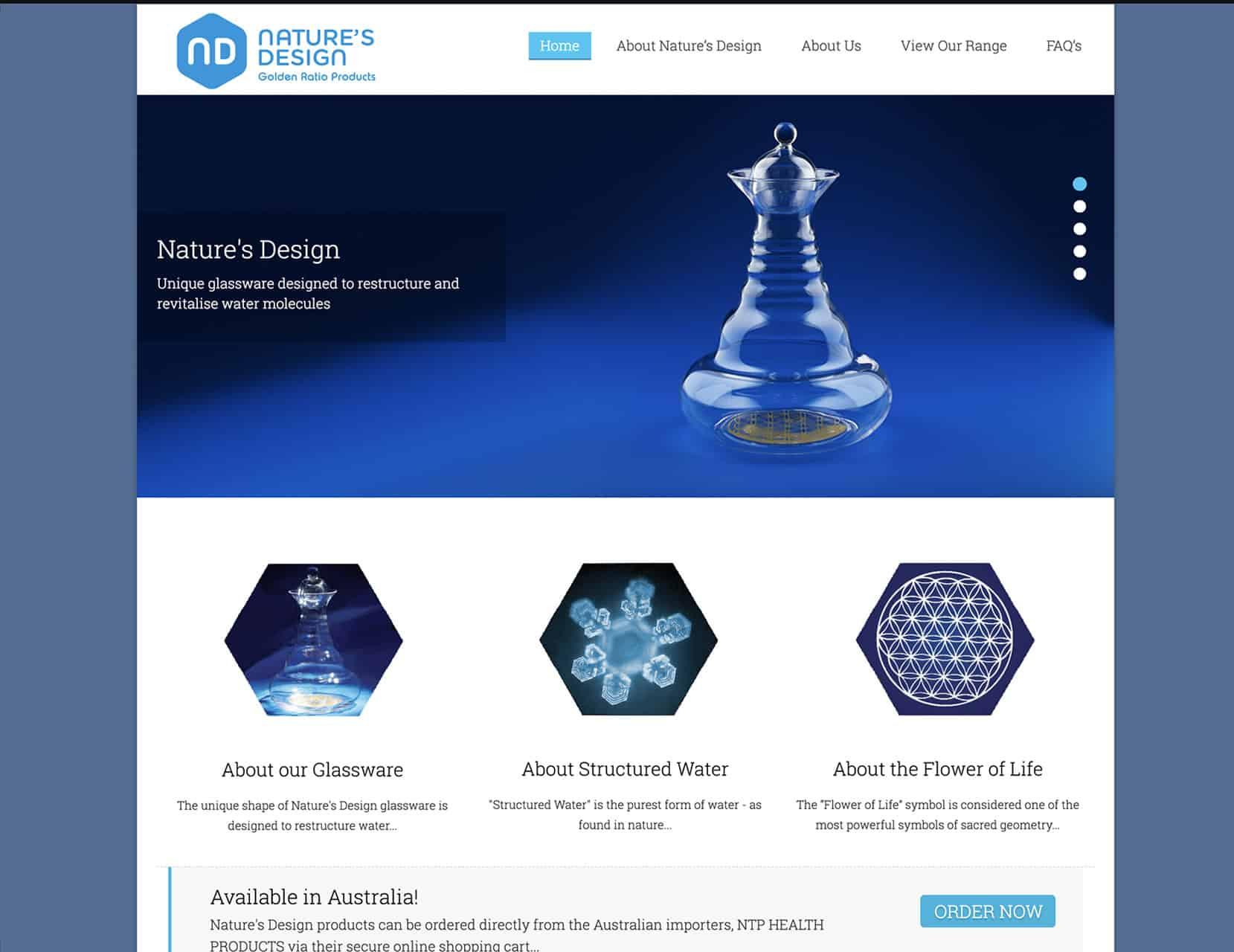 Natures Design Glassware