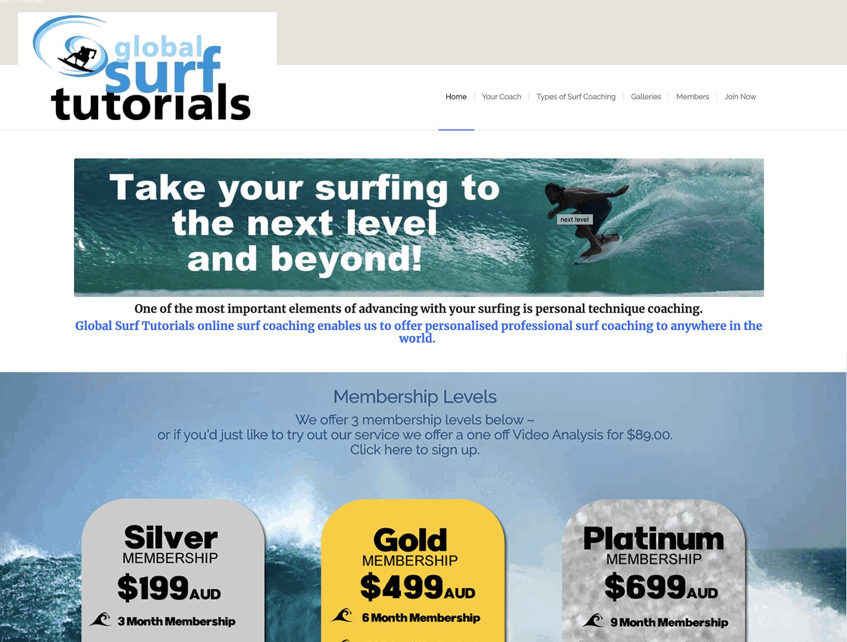 Global Surf Tutorials